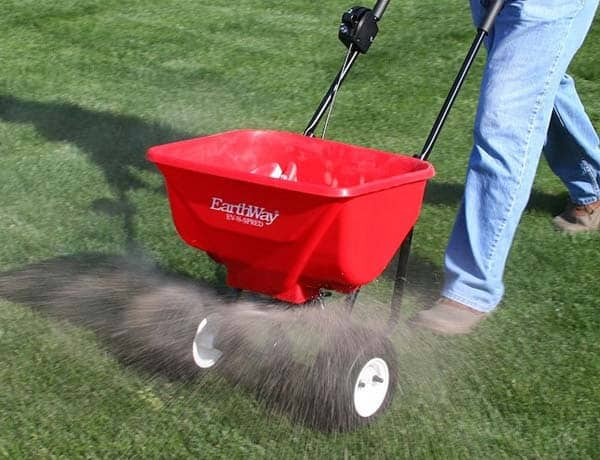 fertilizing grass